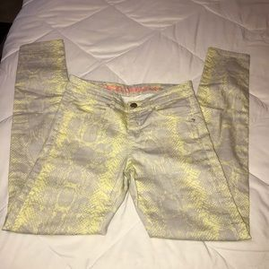 Mexx Jeans Slim Beautiful yellow gray snakeskin 27